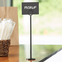 Choice 12 inch Black Menu / Card Holder
