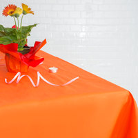 Hoffmaster 220408 54 inch x 54 inch Cellutex Bittersweet Orange Tissue / Poly Paper Table Cover - 50/Case