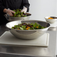 Choice 20 Qt. Standard Weight Stainless Steel Mixing Bowl
