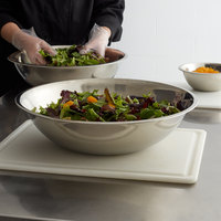 Choice 16 Qt. Standard Weight Stainless Steel Mixing Bowl