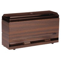 Vollrath 3820-12 Straw Boss Single Sided Bulk Unwrapped Straw Dispenser - Dark Walnut Woodgrain