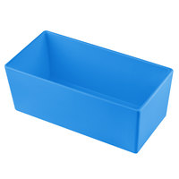 Tablecraft CW5014SBL Simple Solutions 1/3 Size Sky Blue Cast Aluminum Deep Straight Sided Bowl - 5 inch Deep