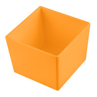 Tablecraft CW5018X Simple Solutions 1/6 Size Orange Cast Aluminum Straight Sided Bowl - 5 inch Deep