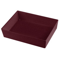 Tablecraft CW5004MRS Simple Solutions 1/2 Size Maroon Speckle Cast Aluminum Straight Sided Bowl - 3 inch Deep