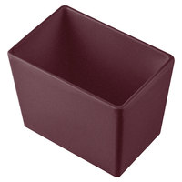 Tablecraft CW5022MRS Simple Solutions 1/9 Size Maroon Speckle Cast Aluminum Deep Straight Sided Bowl - 5 inch Deep