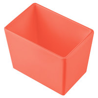 Tablecraft CW5022SNX Simple Solutions 1/9 Size Sunset Orange Cast Aluminum Deep Straight Sided Bowl - 5 inch Deep