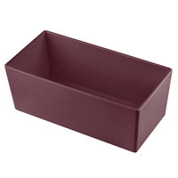 Tablecraft CW5014MRS Simple Solutions 1/3 Size Maroon Speckle Cast Aluminum Deep Straight Sided Bowl - 5 inch Deep