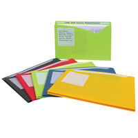 C-Line 63160 Letter Size Assorted Color Write On 1 inch Expanding Poly File Folder - 10/Pack