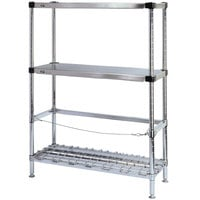 Metro 3KR346FC Two Keg Rack with One Dunnage Rack - 42 inch x 18 inch x 64 1/8 inch