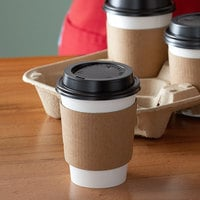 Choice 12 oz. White Paper Hot Cup, Lid, and Sleeve Combo Kit - 50/Pack