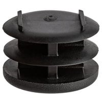 CSL P136-4-24 Black Replacement Flat Foot Plug for CSL Tray Stands   - 24/Pack