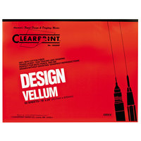 Clearprint 10001422 Design Vellum 18 inch x 24 inch 50-Sheet Sketch Paper Pad