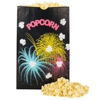 Bagcraft Packaging 300451 7 1/2 inch x 3 1/2 inch x 11 7/10 inch 170 oz. Funburst Design Popcorn Bag - 250/Case