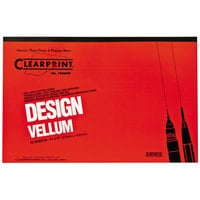 Clearprint 10001416 Design Vellum 11 inch x 17 inch 50-Sheet Sketch Paper Pad