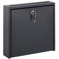 Safco 4258BL 12 inch x 12 inch x 3 inch Black Wall-Mountable Interoffice Mailbox