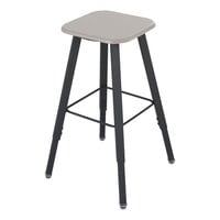Safco 1205BE AlphaBetter Beige and Black Adjustable-Height Student Stool