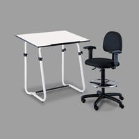 Safco 3951 PlanMaster White 48 inch x 36 inch Drafting Table Top