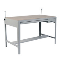 Safco 3962GR Precision 56 1/2 inch x 30 1/2 inch x 35 1/2 inch Gray Four-Post Drafting Table Base