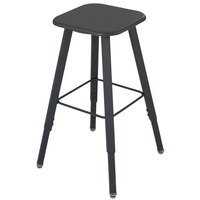 Safco 1205BL AlphaBetter Black Adjustable-Height Student Stool