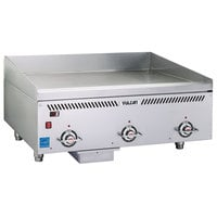 Vulcan VCCG36-IR Liquid Propane 36 inch Griddle with Infrared Burner and Chrome Plate - 72,000 BTU