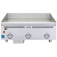 Vulcan VCCG36-AR Natural Gas 36 inch Griddle with Atmospheric Burner and Chrome Plate -90,000 BTU