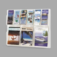 Safco 5605CL Reveal 30 inch x 2 inch x 22 1/2 inch Clear 9 Compartment Literature Display