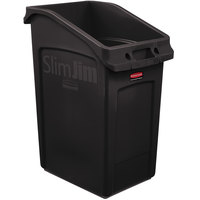 Rubbermaid 2026723 92 Qt. / 23 Gallon Slim Jim Under-Counter Brown Rectangular Trash Can