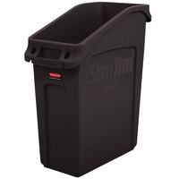 Rubbermaid 2026697 52 Qt. / 13 Gallon Slim Jim Under-Counter Brown Rectangular Trash Can