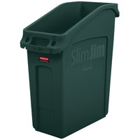 Rubbermaid 2026700 52 Qt. / 13 Gallon Slim Jim Under-Counter Green Rectangular Trash Can