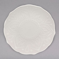 10 Strawberry Street DHLA-0005 Dahlia 6 inch White New Bone China Bread and Butter Plate - 36/Case