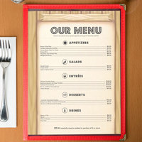8 1/2 inch x 11 inch Menu Paper - Southwest Themed Saloon Design Middle Insert - 100/Pack
