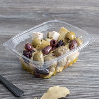 Eco Products EP-RC12 12 oz. PLA Plastic Compostable Rectangular Deli Container and Lid - 300/Case