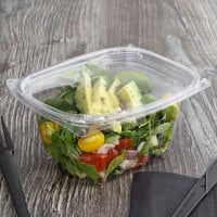 Eco Products EP-RC16 16 oz. PLA Plastic Compostable Rectangular Deli Container and Lid - 300/Case