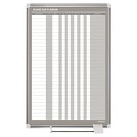MasterVision GA02109830 24 inch x 36 inch Enameled Steel In / Out Dry Erase Board with Aluminum Frame and White Corners