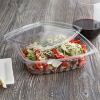 Eco Products EP-RC24 24 oz. PLA Plastic Compostable Rectangular Deli Container and Lid - 200/Case