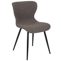 Flash Furniture LF-9-07A-GRY-F-GG Bristol Contemporary Gray Fabric Upholstered Chair