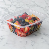 Eco Products EP-RC32 32 oz. PLA Plastic Compostable Rectangular Deli Container and Lid - 200/Case