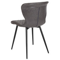 Flash Furniture LF-9-07A-GRY-GG Bristol Contemporary Gray Vinyl Upholstered Chair