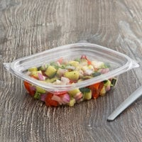 Eco Products EP-RC8 8 oz. PLA Plastic Compostable Rectangular Deli Container and Lid - 300/Case