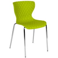 Flash Furniture LF-7-07C-CGRN-GG Lowell Contemporary Citrus Green Plastic Stackable Chair