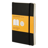 Moleskine MS710 5 1/2 inch x 3 1/2 inch Black Ruled Softcover Notebook