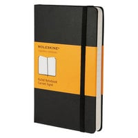 Moleskine MM710 5 1/2 inch x 3 1/2 inch Black Ruled Hardcover Notebook