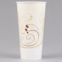 Solo RS22N-J8000 Symphony 22 oz. Wax Treated Paper Cold Cup - 1000/Case