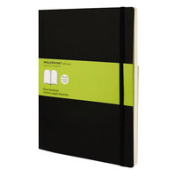Moleskine MSX17 10 inch x 7 1/2 inch Black Plain Softcover Notebook