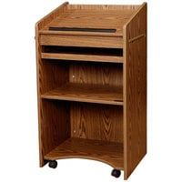 Oklahoma Sound 600-MO Medium Oak Finish Aristocrat Floor Host Stand