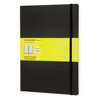 Moleskine MSX15 10 inch x 7 1/2 inch Black Squared Softcover Notebook