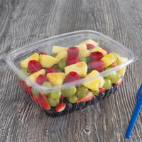 Eco Products EP-RC64 64 oz. PLA Plastic Compostable Rectangular Deli Container and Lid - 200/Case