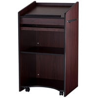 Oklahoma Sound 600-MY Mahogany Finish Aristocrat Floor Host Stand