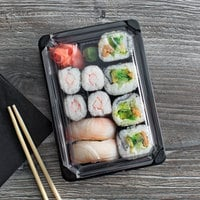 Eco Products EP-SH2-CPK 5 inch x 7 inch Small Sushi Container with Lid - 600/Case