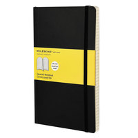 Moleskine MSL15 8 inch x 5 inch Black Squared Softcover Notebook